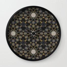 Dark Art Floral Mandala Wall Clock