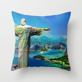 Colorful Rio Throw Pillow