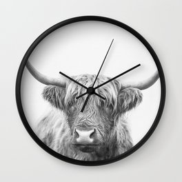 Highland Bull Wall Clock