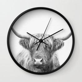 Highland Bull Wall Clock