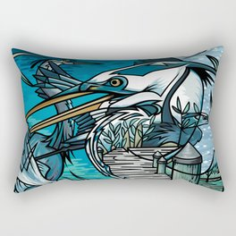 The Chesapeake Bay Blues Rectangular Pillow