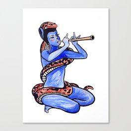 Cat Trumpet Canvas Print