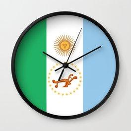 flag of Chaco Wall Clock
