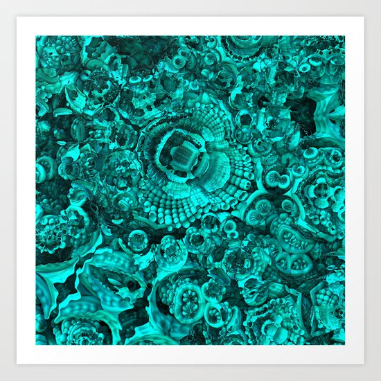 Flotsam & Jetsam II (Teal) Art Print