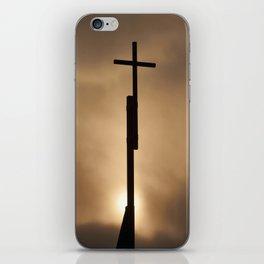 The cross in the #sky iPhone Skin