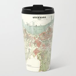 Map of Gothenburg - 1888 Travel Mug