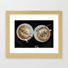 due cappoccini. Framed Art Print