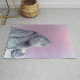 Pink Light Manatee Rug