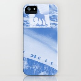 "Unicorn and penguins ""Two Ways To Go"" iPhone Case"