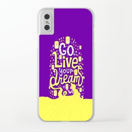 Live your dream Clear iPhone Case