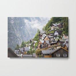 Vintage Fairytale Houses in Austrian Mountains Metal Print