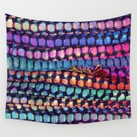 totes Wall Tapestries featuring Colourful Layers  - JUSTART ©, edited photography by JUSTART