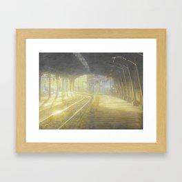 Hoboken Terminal_painting Framed Art Print