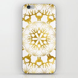 Gold Christmas 05 iPhone Skin