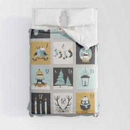 Christmas countdown with cute Christmas animals Comforters