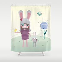 friendship Shower Curtains featuring Friendship by Esther Ilustra
