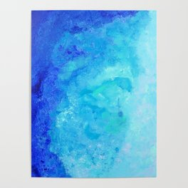 Blue abstract one Poster