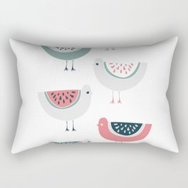 WATERMELON BIRD Rectangular Pillow