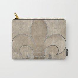 Fleur de lis pattern Carry-All Pouch