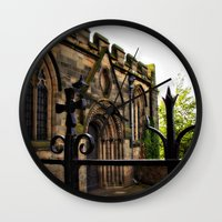 medieval Wall Clocks featuring Medieval by Barbara Gordon Photography