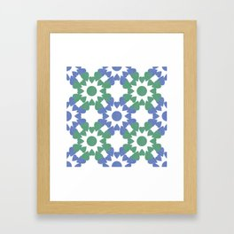 abstract background with flower and hearts Framed Art Print