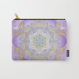 Purple & Gold Mandala Carry-All Pouch