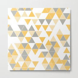 Abstract Triangles Metal Print
