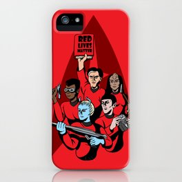 Red Lives Matter iPhone Case