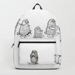 Monsters from Karst evryday life Backpack