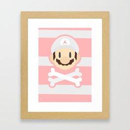 Jumpman Mario - Strawberry Framed Art Print