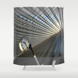 Time Revisited Shower Curtain