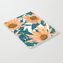 Blush Sunflowers Notebook