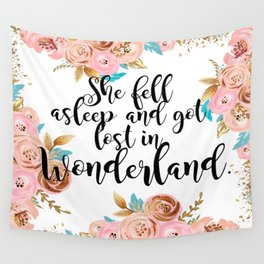 Lost in Wonderland Wall Tapestry