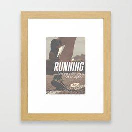 No Diet Just Running Runners Design Framed Art Print