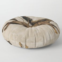Western-style Bucking Bronco Cowboy Floor Pillow