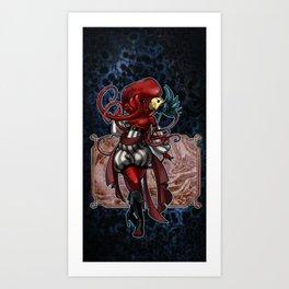 Mardi Red Art Print