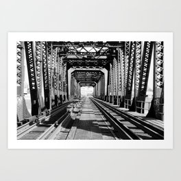 Train Bridge Art Print