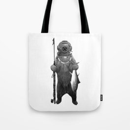 Harpoon Fishing Bear Tote Bag