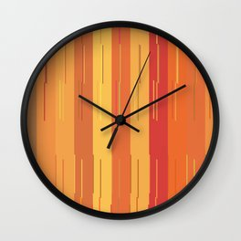Orange and Yellow Stripes and Lines Abstract Wall Clock