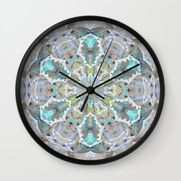 Listening to Peace Soft Boho Glow Mandala Print Wall Clock