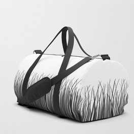 Grasses - Black and White Duffle Bag
