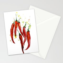red chili pepper Stationery Cards