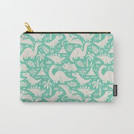 Delightful Dinos (teal) Carry-All Pouch