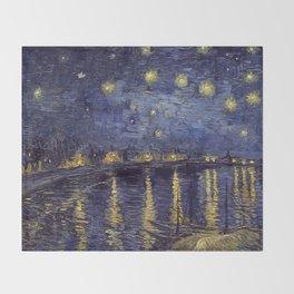 Vincent Van Gogh Starry Night Over The Rhone Throw Blanket