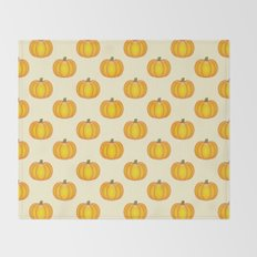 Cute Cartoon Pumpkin Pattern Throw Blanket