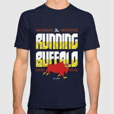 The Running Buffalo Navy Mens Fitted Tee SMALL