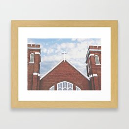Red Brick Church Framed Art Print