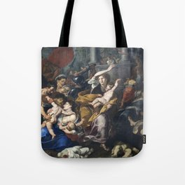 Milan - paint of Massacre of the Innocents from San Eustorgio church Tote Bag