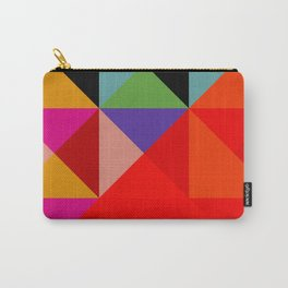 Colorful Decorative Abstract Geometric Art Pattern - Tervina Carry-All Pouch