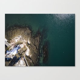 Maine Winters at the Coast  |  Drone Photography Canvas Print